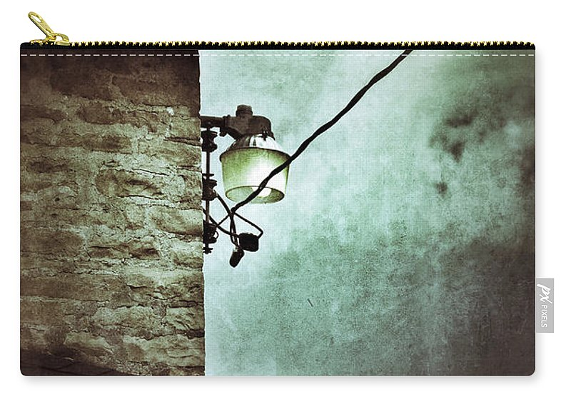 House Carry-all Pouch featuring the photograph Wires On House In Storm by Jill Battaglia