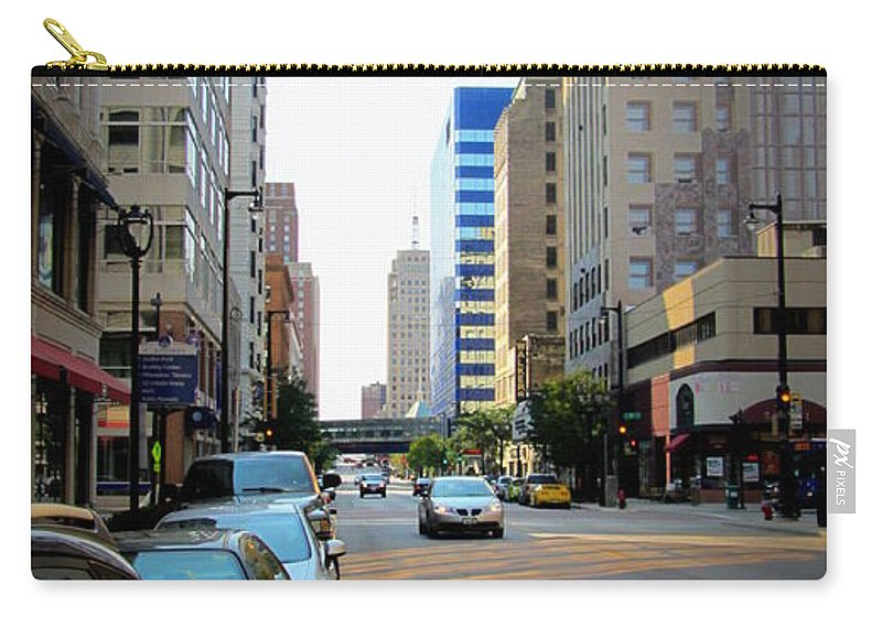 Milwaukee Carry-all Pouch featuring the photograph Wisconsin Avenue 2 by Anita Burgermeister