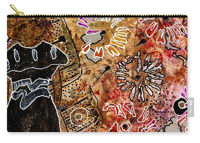 Acrylic Carry-all Pouch featuring the mixed media Wishing For Freedom Like Yours My Friend by Angela L Walker