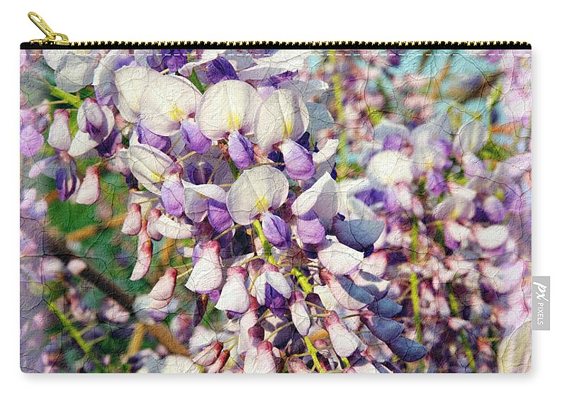Wisteria Carry-all Pouch featuring the photograph Wispy Wisteria by Andee Design