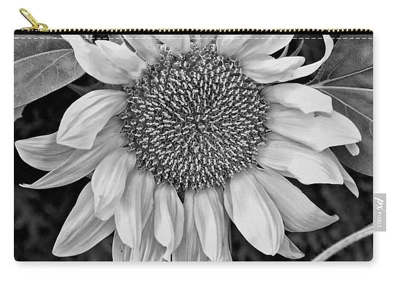 Flowers Carry-all Pouch featuring the photograph Wistful One Monochrome by Steve Harrington