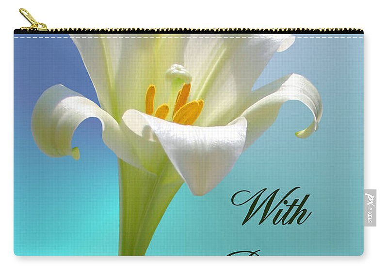 Sympathy Carry-all Pouch featuring the photograph With Deepest Sympathy by Kristin Elmquist