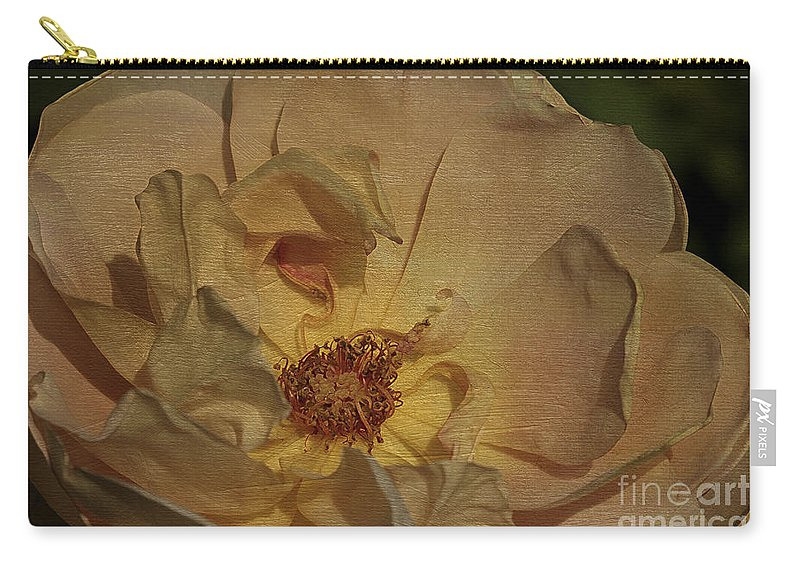 Flower Carry-all Pouch featuring the photograph Withering Rose by Deborah Benoit