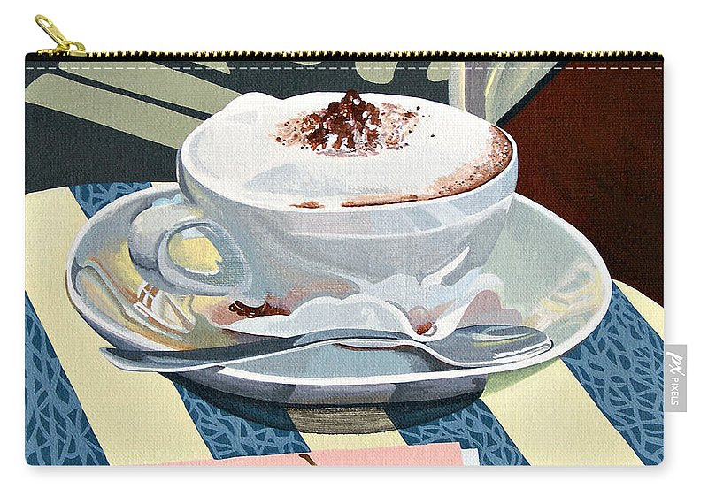Wittenberg Carry-all Pouch featuring the painting Wittenberg Cappucino by Shirley Radebach