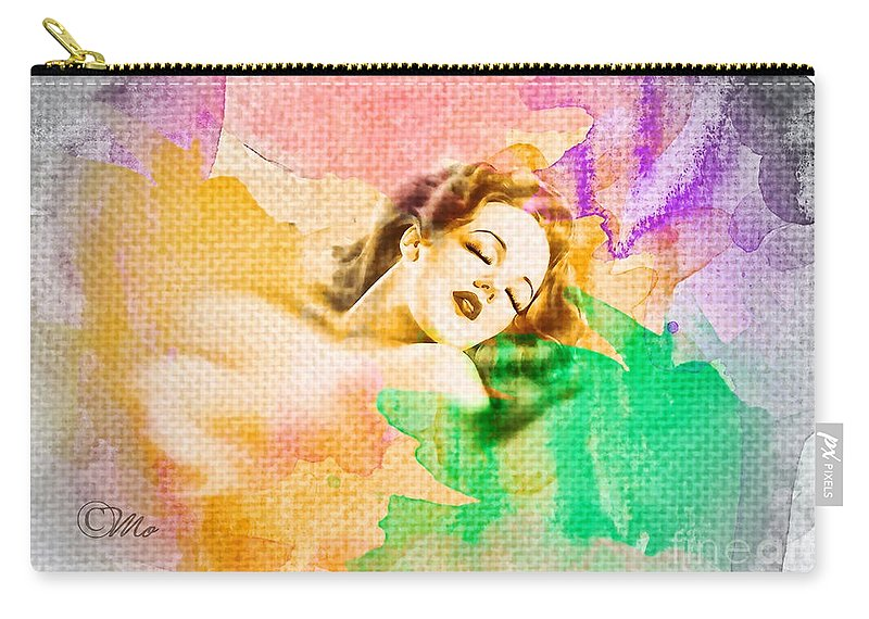 Woman's Soul Part 1 Carry-all Pouch featuring the digital art Woman's Soul Part 1 by Mo T