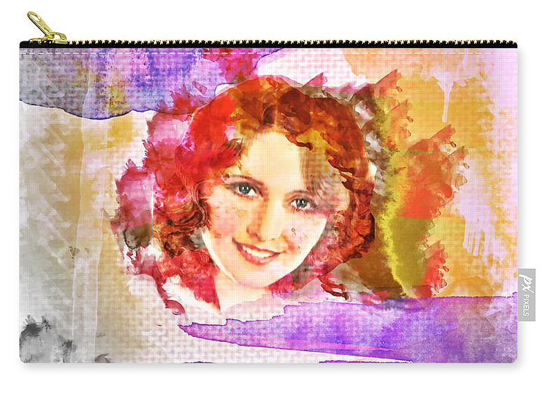 Woman's Soul Part 2 Carry-all Pouch featuring the digital art Woman's Soul Part 2 by Mo T