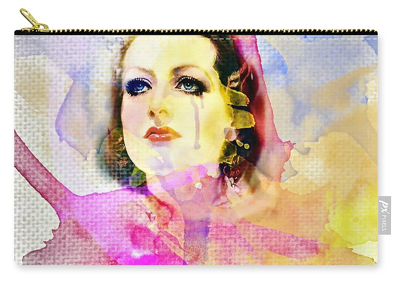 Woman's Soul Part 3 Carry-all Pouch featuring the digital art Woman's Soul Part 3 by Mo T