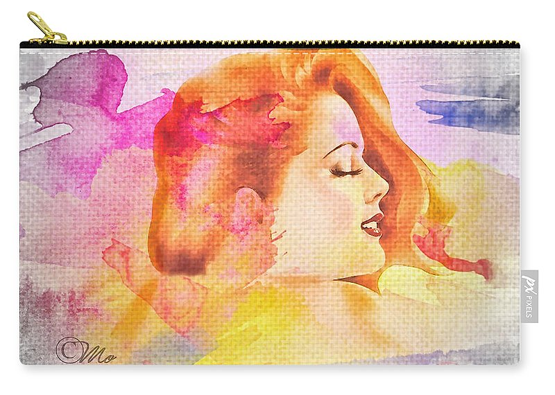 Woman's Soul Part 4 Carry-all Pouch featuring the photograph Woman's Soul Part 4 by Mo T