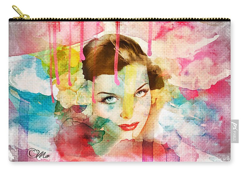 Woman's Soul Prelude Carry-all Pouch featuring the digital art Woman's Soul Prelude by Mo T
