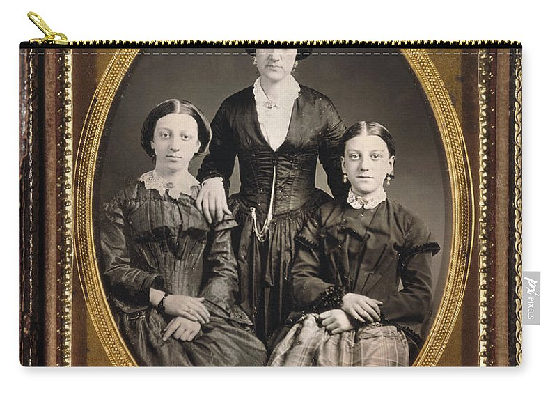 1855 Carry-all Pouch featuring the photograph Women C1855 by Granger