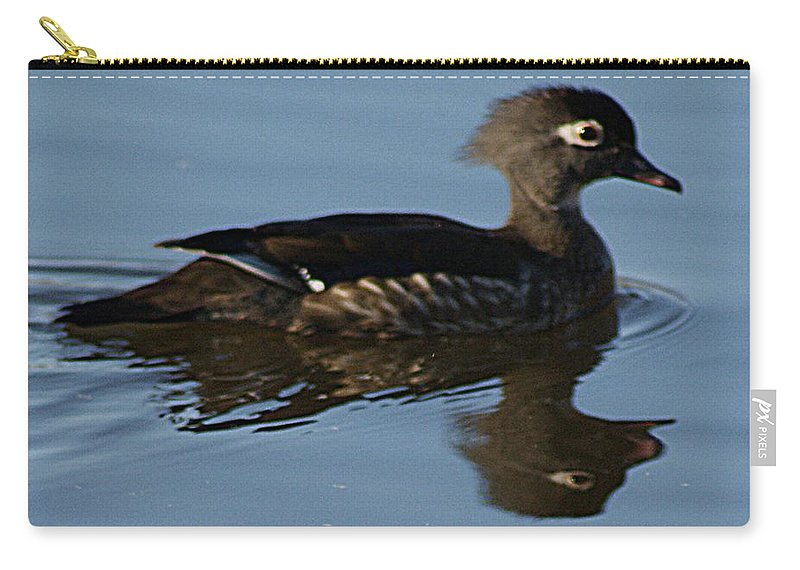 Wood Carry-all Pouch featuring the photograph Wood Duck I by Joe Faherty