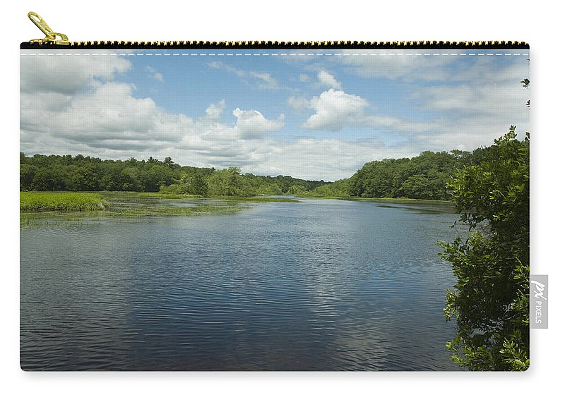 Photography Carry-all Pouch featuring the photograph Wood River by Steven Natanson