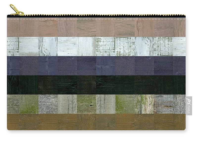 Abstract Carry-all Pouch featuring the digital art Wooden Abstract Lv by Michelle Calkins