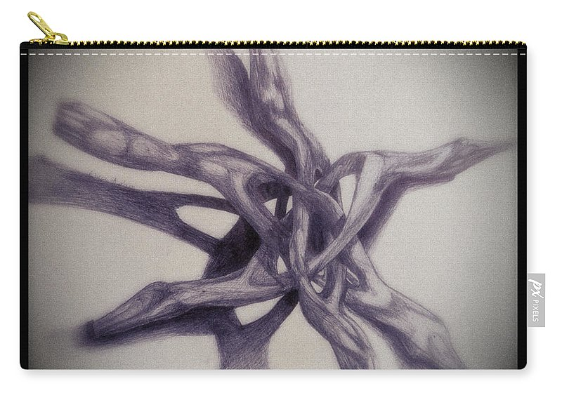 Rebecca Stephens Carry-all Pouch featuring the painting Wooden Puzzle by Rebecca Stephens