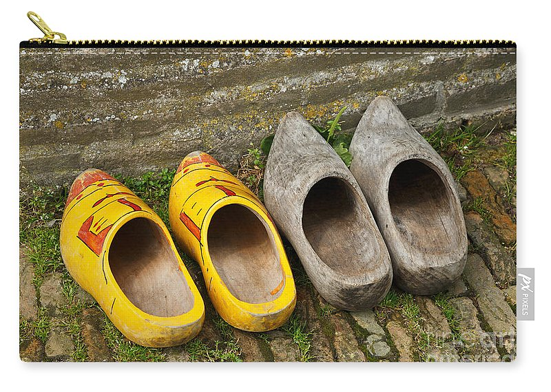 Wooden Carry-all Pouch featuring the photograph Wooden Shoes by Louise Heusinkveld
