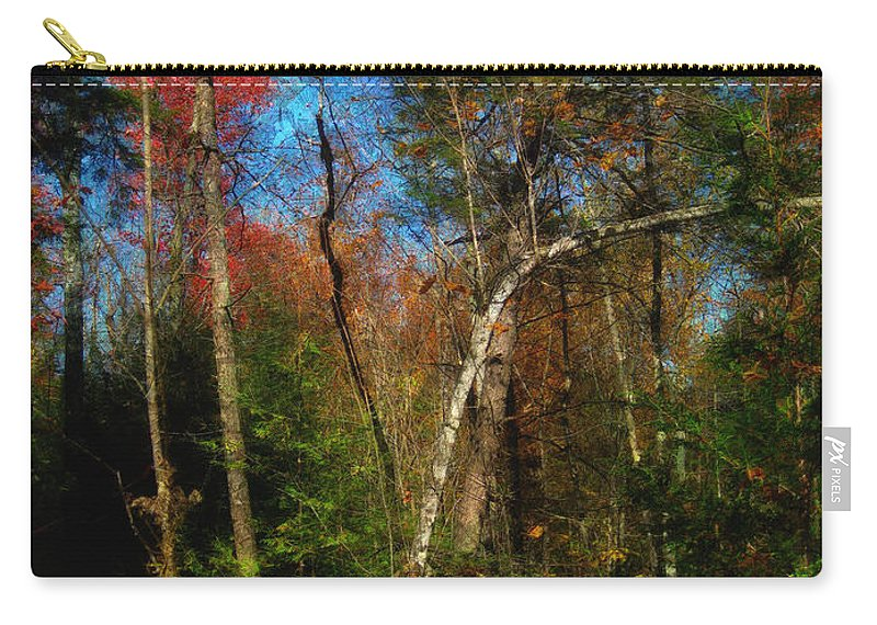 Woodland Carry-all Pouch featuring the photograph Woodland Ramble by Mario Carini
