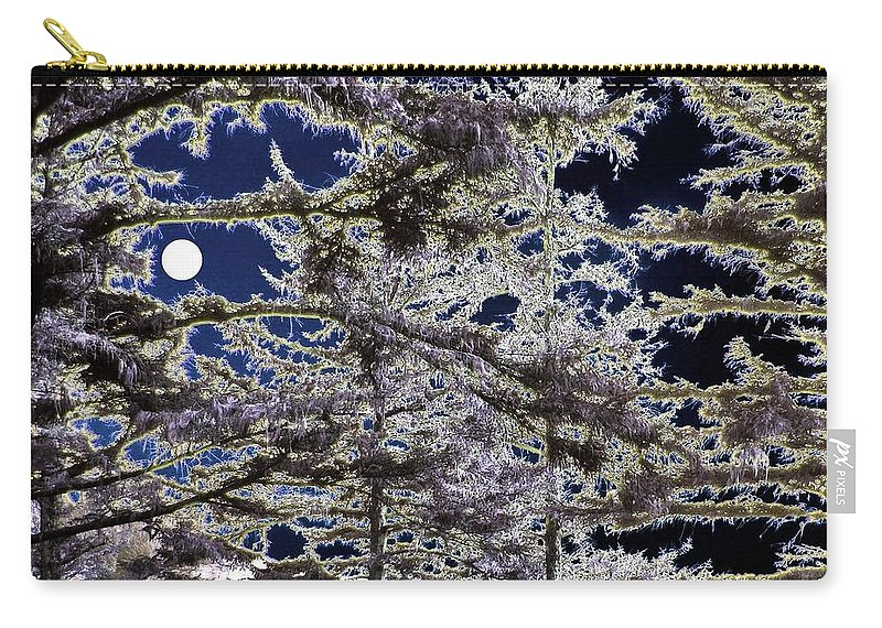 Woodland Carry-all Pouch featuring the digital art Woodland Solitude by Will Borden