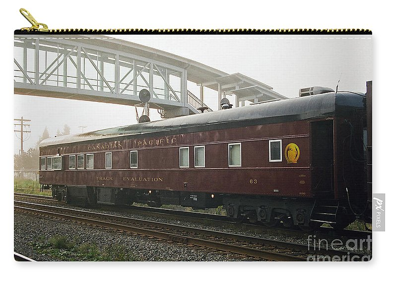 Trains Carry-all Pouch featuring the photograph Work Train by Randy Harris