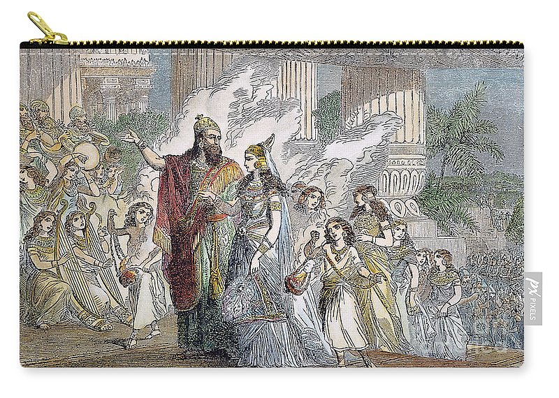 5th Century B.c. Carry-all Pouch featuring the photograph Xerxes I & Esther by Granger