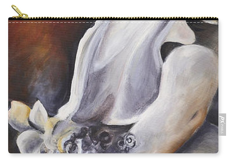 Statue Carry-all Pouch featuring the painting Yaddo Roses by Francine Stuart