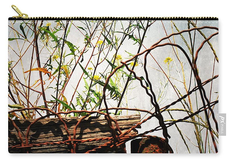 Fence Carry-all Pouch featuring the photograph Yard Of The Hippies by The Artist Project