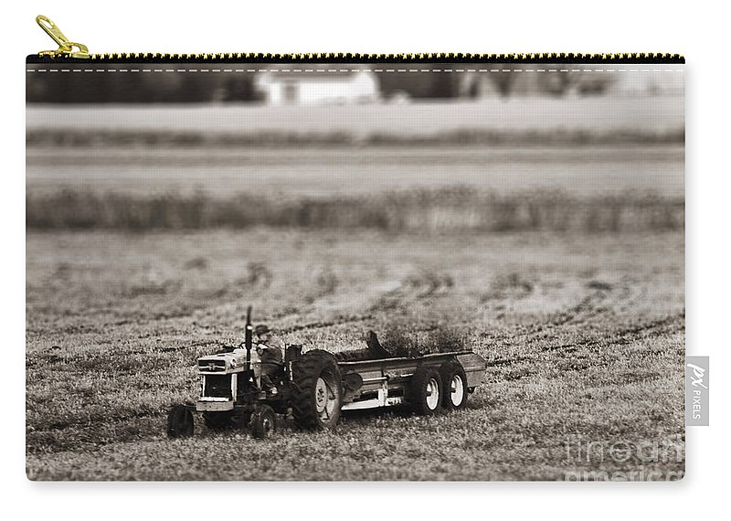 Farmer Carry-all Pouch featuring the photograph Yard Work by Traci Cottingham