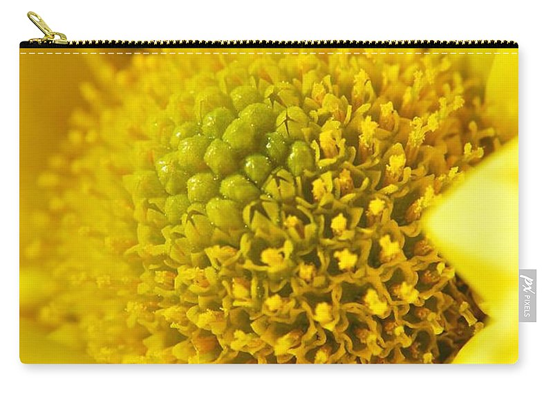 Yhun Suarez Carry-all Pouch featuring the photograph Yellow Chrysanthemum by Yhun Suarez