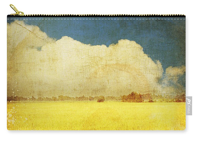 Abstract Carry-all Pouch featuring the photograph Yellow Field by Setsiri Silapasuwanchai