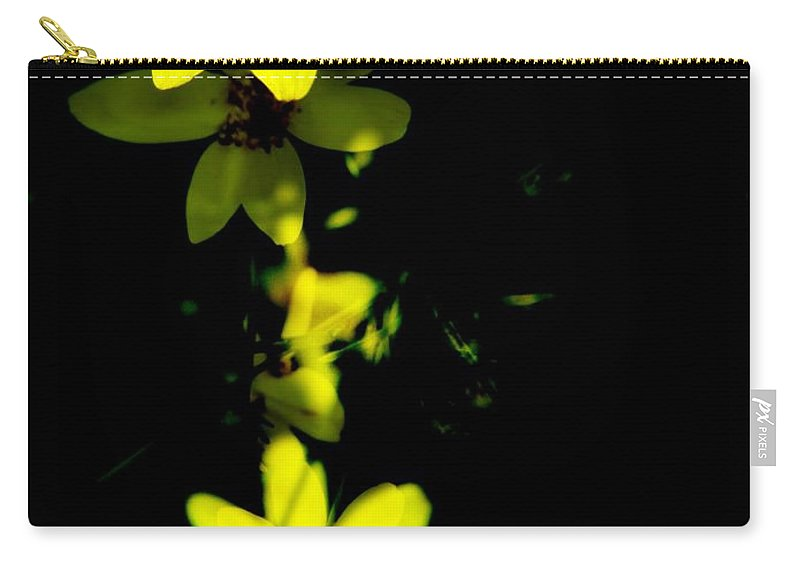Yellow Flowers Carry-all Pouch featuring the digital art Yellow Flowers by Christy Leigh