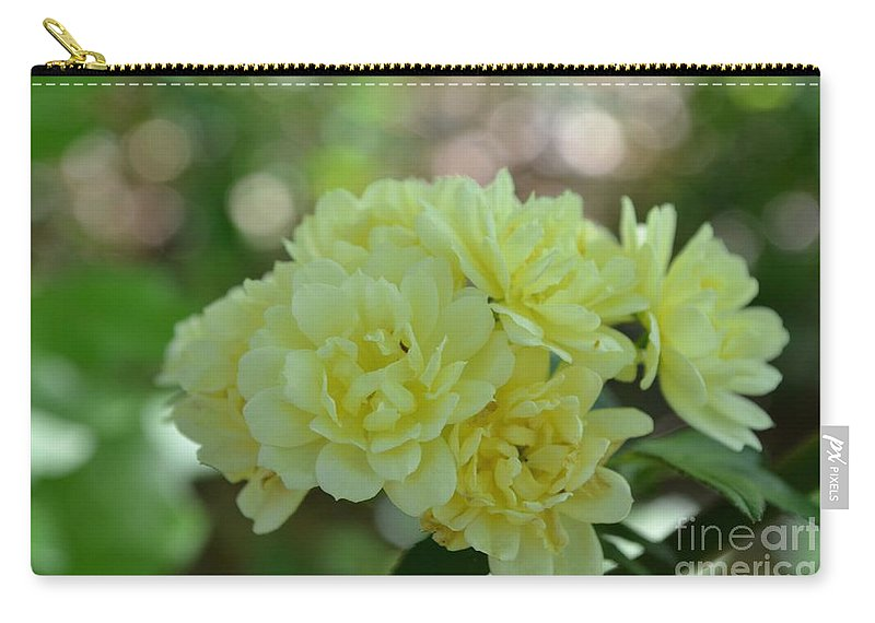 Flowers Carry-all Pouch featuring the photograph Yellow Flowers by Maria Urso