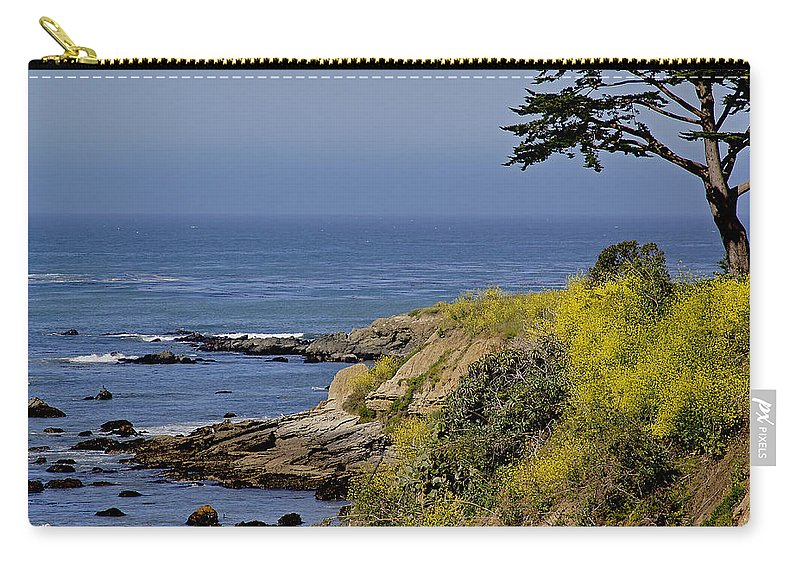 Central Coast Carry-all Pouch featuring the photograph Yellow Flowers On The Central California Coast by Mick Anderson