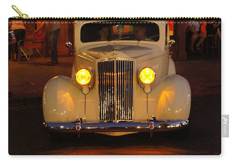 Yellow Carry-all Pouch featuring the photograph Yellow Lights On by Mick Anderson