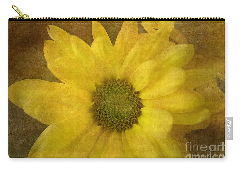 Mum Carry-all Pouch featuring the photograph Yellow Mums by Benanne Stiens