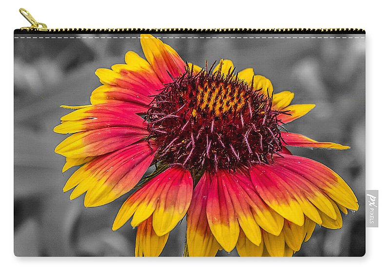 Flowers Carry-all Pouch featuring the photograph Yellow Ring by Guy Whiteley