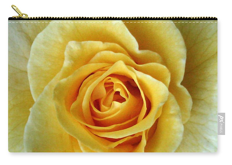 Nature Carry-all Pouch featuring the photograph Yellow Rose by Peg Urban