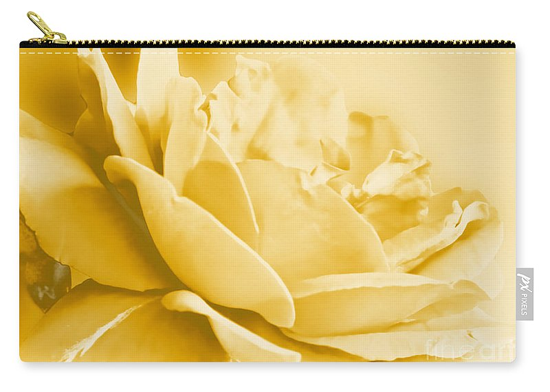 Nature Carry-all Pouch featuring the photograph Yellow Tone Rose by Debbie Portwood