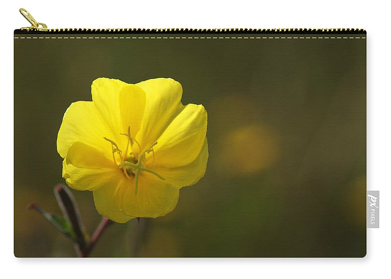 Yellow Carry-all Pouch featuring the photograph Yellow Wild Flower by Chris Day