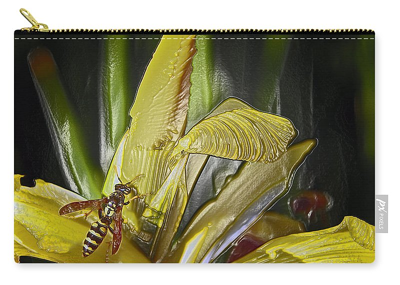 Yellowjacket Carry-all Pouch featuring the photograph Yellowjacket by Bill Owen