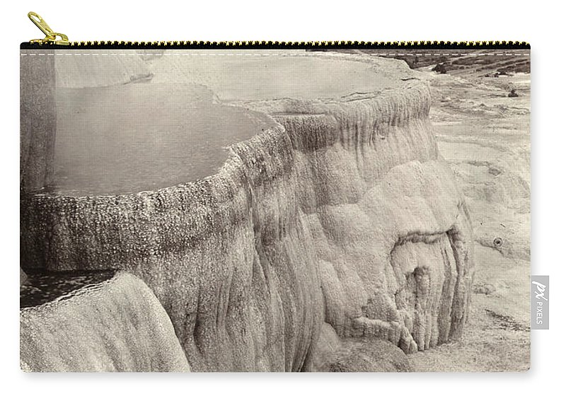 1890 Carry-all Pouch featuring the photograph Yellowstone Park: Mammoth by Granger