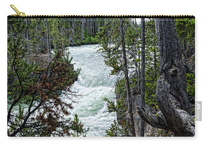 Yellowstone National Park Carry-all Pouch featuring the photograph Yellowstone River by Jon Berghoff