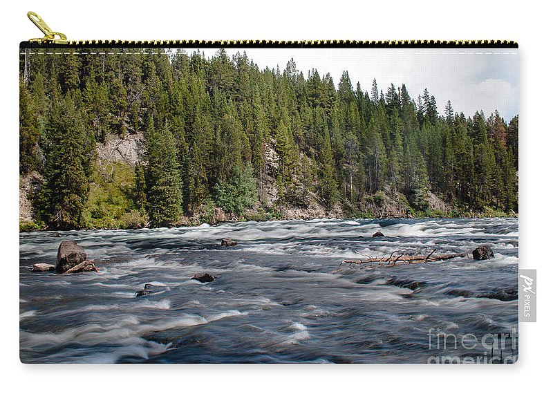 River Carry-all Pouch featuring the photograph Yellowstone River by Robert Bales