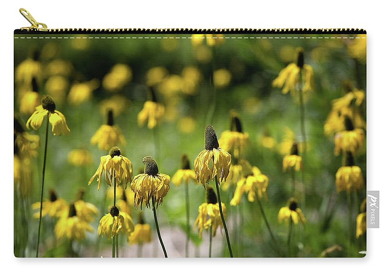 California Carry-all Pouch featuring the photograph Yosemite Coneflowers by Peter Tellone
