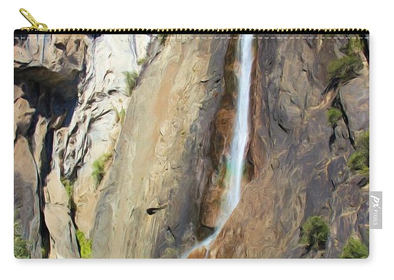 Yosemite Carry-all Pouch featuring the photograph Yosemite Falls Rainbow by Heidi Smith