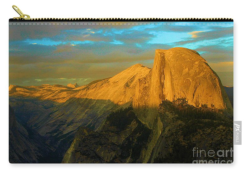 Half Dome Carry-all Pouch featuring the photograph Yosemite Golden Dome by Adam Jewell