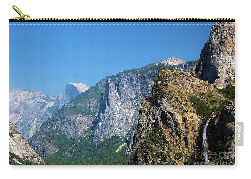 Yosemite National Park Carry-all Pouch featuring the photograph Yosemite Valley by Adam Jewell