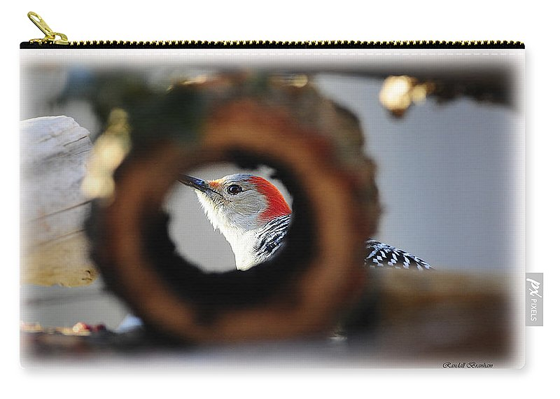 As Seen Thru The Log Carry-all Pouch featuring the photograph You Got A Split Second Take It by Randall Branham