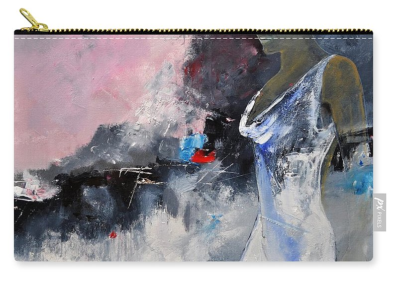Girl Carry-all Pouch featuring the painting Young Girl 772130 by Pol Ledent