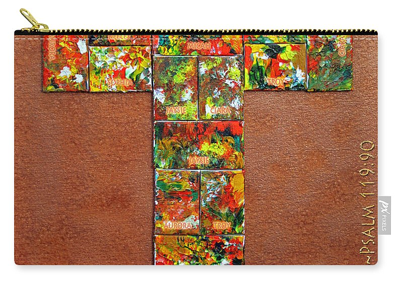 Carry-all Pouch featuring the mixed media Your Faithfulness by Gwyn Newcombe