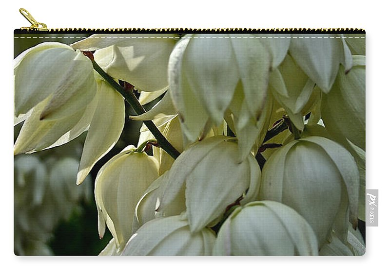 Floral Carry-all Pouch featuring the photograph Yucca by Susan Herber
