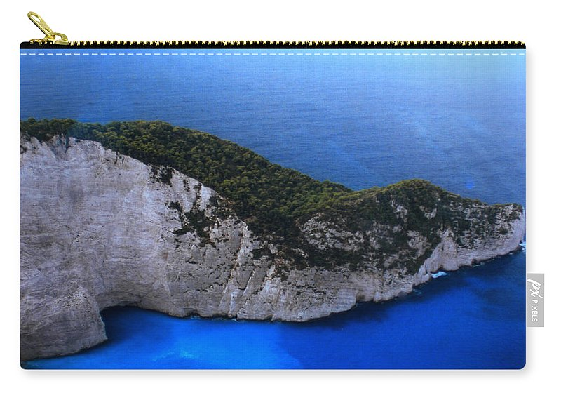 Colette Carry-all Pouch featuring the photograph Zakynthos Crocodile Island Greece by Colette V Hera Guggenheim
